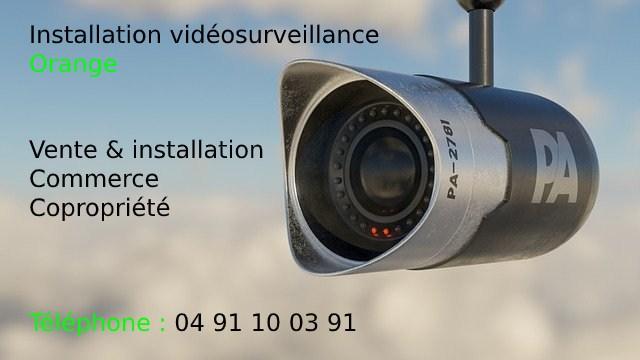 Installation vidéosurveillance à Orange